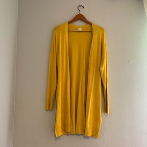 A NEW DAY XL Yellow Duster Cardigan